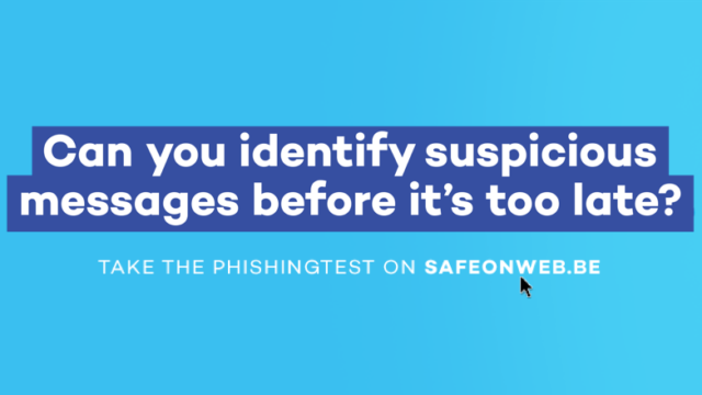Campaign on phishing and suspicious and false messages